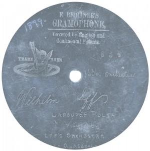 """7"""" (18cm). Rec. 10-09-1899."""