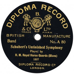 Probably pressed by Disc Record Co., 1914.