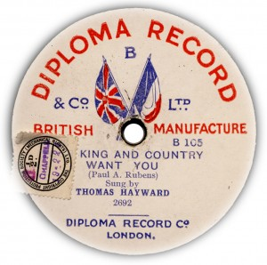 Disc Record Co., Autumn 1914.
