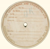 1907, very large label.